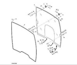 L209737  John Deere Panoramic front windscreen Rutherford Maitland Area Preview