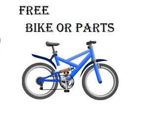 Looking for an Adult Bike Frame or used Bike Parts.