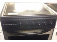 STAINLESS STEEL/BLACK ELECTROLUX 50CM ELECTRIC COOKER, 4 MONTHS WARRANTY, EXECLLENT CONDITION