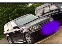 Black Range Rover sport 57 plate