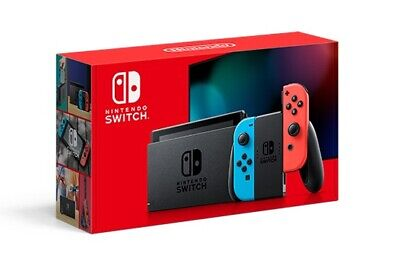 2020 Nintendo Switch With Neon Red And Blue Joy Con-(Latest Model) Same Day Ship