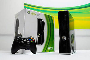 XBox 360 slim 250GB with Kinect,1 controller,chatpad & games