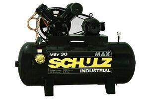 SCHULZ AIR COMPRESSOR - 7.5HP - 80 GALLON TANK - 30CFM - 175 PSI
