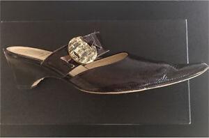 France Mode Wedge Slip on Shoes -EUC