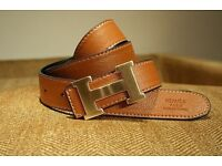 **NEW LEATHER HERMES BELTS**x