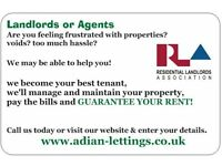 Properties wanted for rent -Guaranteed rent