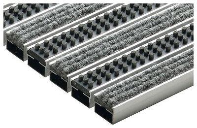 ACO Vario Schuhabstreifermatte Rips mit Cassettenbürste hellgrau 75x50cm