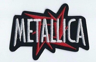 METALLICA STAR LOGO EMBROIDERED PATCH !