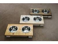 2 Bowl Cat/ Puppy Feeders 11cm Bowl