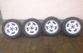 Empi 5 style spoke alloy wheels for Vw Type 2 Bay Window Camper