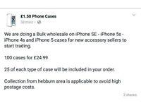 Iphone SE 5S 4S 5 CASES!!