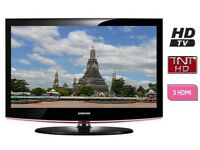 "Samsung 32"" inch HD LCD TV with Freeview Built in, 3 x HDMI not 28, 37 39. May Deliver Locally"