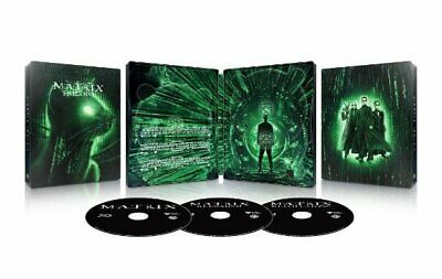 Halloween Trilogy Blu Ray (The Matrix Trilogy (4K UHD Blu-ray, Digital HD, 3 Disc) NEW Steelbook Best)