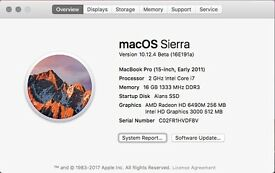 Macbook Pro 15 i7 Quad Core 16Gb Ram 960gb SSD with software and Hi Res Screen (Also Win 10)