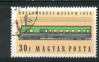 HUNGARY 1959 GANZ DIESEL RAILCAR COMMEMORATIVE STAMP SG 1565 VFU