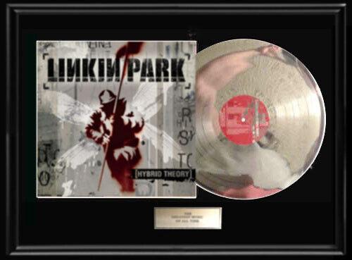 LINKIN PARK  RARE FRAMED LP WHITE GOLD SILVER PLATINUM TONE RECORD NON RIAA