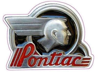 Vintage Pontiac Original Emblem Vinyl Decal Sticker Nostalgia Classic Car