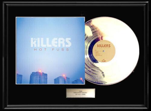 KILLERS HOT FUSS WHITE GOLD SILVER PLATINUM TONED RECORD LP VINYL ALBUM NON RIAA