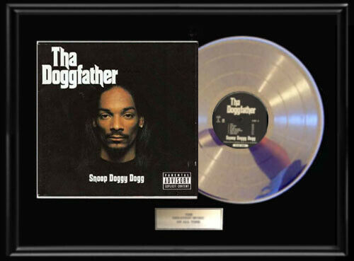 SNOOP DOGG DOGGFATHER  LP WHITE GOLD SILVER PLATINUM TONED RECORD DOGGY DOGG