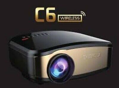 C6 Wireless LCD LED Home Mini Theater Projector 1200 Lumens HD 800x480 #AZG