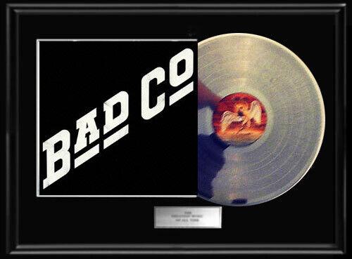 BAD COMPANY DEBUT SELF TITLED  WHITE GOLD SILVER PLATINUM TONE RECORD LP  RARE