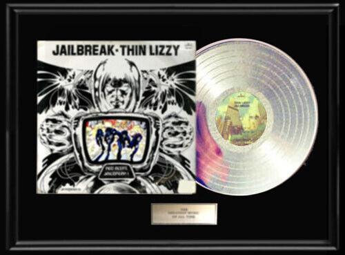 THIN LIZZY JAILBREAK ALBUM LP WHITE GOLD SILVER PLATINUM TONED RECORD RARE