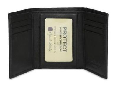 - Osgoode Marley RFID Double ID Trifold Mens Cashmere Leather Wallet 1205
