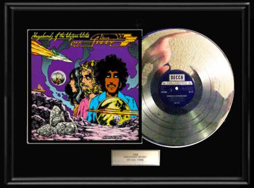 THIN LIZZY VAGABONDS ALBUM LP WHITE GOLD SILVER PLATINUM TONED RECORD RARE