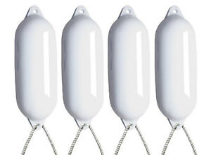4-X-MAJONI-WHITE-BOAT-FENDERS-INFLATED-SIZE-5-FREE-ROPE-LARGE