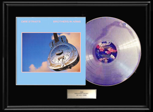 DIRE STRAITS BROTHERS IN ARMS WHITE GOLD PLATINUM TONED RECORD LP DISC NON RIAA
