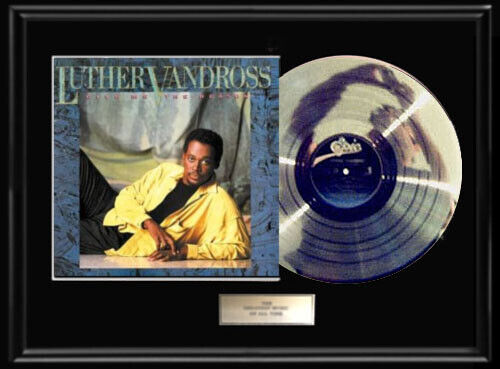 LUTHER VANDROSS GIVE ME THE REASON  WHITE GOLD SILVER PLATINUM TONE RECORD LP