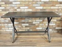 Beautiful NEW Industrial Style Black Metal Kitchen Dining Table - UK Delivery