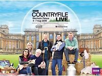X4 TICKETS FOR COUNTRYFILE LIVE 2016