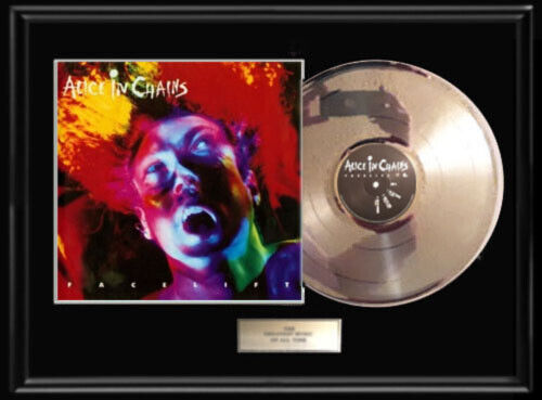 ALICE IN CHAINS FACE LIFT  WHITE GOLD SILVER PLATINUM TONED RECORD LP RARE