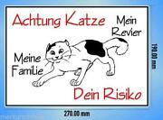 Warnschild Katze