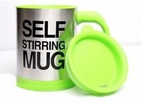 *** SALE Green Stainless Steel Self Stirring Hot Tea Coffee Mug Cup Office Home Gift ***