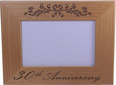 30th Anniversary - 4x6 Inch Wood Picture Frame - Great Anniversary gift for frie ()
