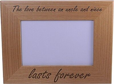 Forever Picture Frame - The love between an uncle and niece lasts forever - 4x6 Inch Wood Picture Frame