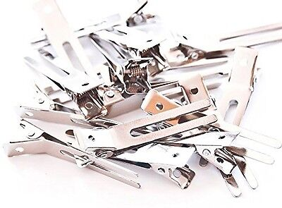 100 double prong alligator hair clips barrettes