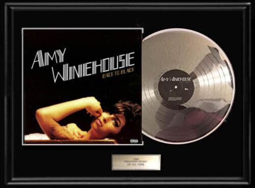 AMY WINEHOUSE BACK TO BLACK WHITE GOLD SILVER  PLATINUM TONE RECORD LP RARE