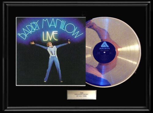 BARRY MANILOW LIVE LP WHITE GOLD SILVER PLATINUM TONE RECORD ALBUM RARE NON RIAA
