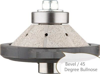 2 Pieces 12 Diamond Profiler Router Bit Granite Bevel Bullnose Concrete Stone