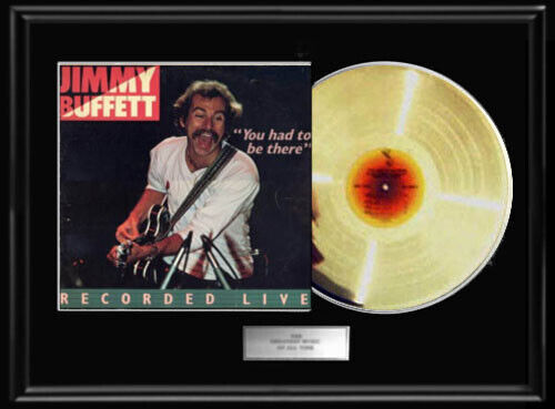 JIMMY BUFFETT YOU HAD TO BE THERE  WHITE GOLD SILVER PLATINUM TONED RECORD LP