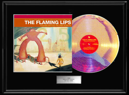 FLAMING LIPS YOSHIMI BATTLES THE ROBOTS WHITE GOLD SILVER PLATINUM TONE RECORD