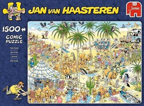 Jumbo Jan Van Haasteren 1500 Piece Jigsaw Puzzle - The Oasis