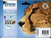 Epson ink cartridges multipack T0715 plus extra cyan cartridge