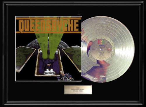 QUEENSRYCHE THE WARNING WHITE GOLD SILVER PLATINUM TONE RECORD LP RARE