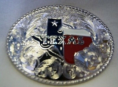 Texas Texans Map Of Tx Lone Star Gold And Silver Belt Buckle