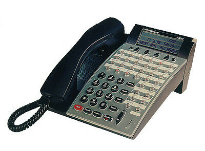 Nec Dterm Phone Dtu-32d-2bktel 770052 Refurb Black New Handset 1 Year Warranty