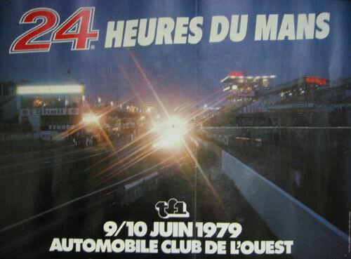 Poster 1979 24 Heures Mans original Le Mans Hours A